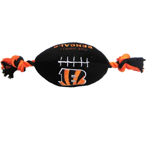 Cincinnati Bengals football plush dog toy