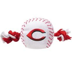 Cincinnati Reds MLB baseball and rope dog toy