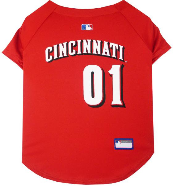 Cincinnati Reds MLB dog jersey back
