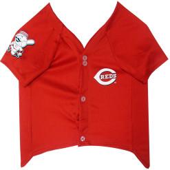 Cincinnati Reds MLB dog jersey front