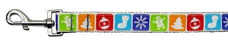 Classic Christmas Symbols adjustable dog leash