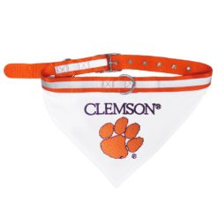 Clemson Tigers NCAA Adjustable Dog Collar and Bandana