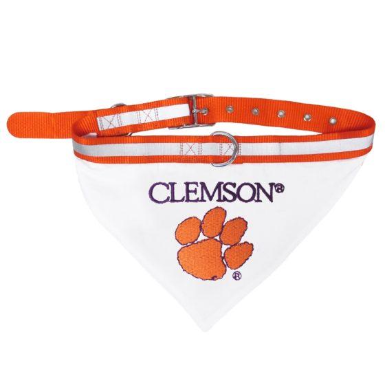 Clemson Tigers NCAA Adjustable Dog Collar and Bandana