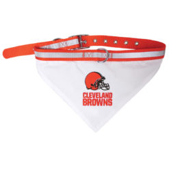 Cleveland Browns Dog Adjustable Collar and Bandana