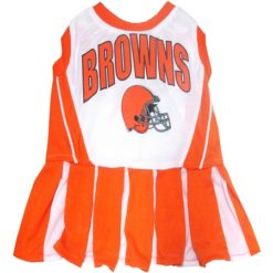 Cleveland Browns NFL dog cheerleader dress
