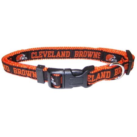 Cleveland Browns NFL nylon dog collar