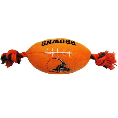 Cleveland Browns NFL plush dog football toy