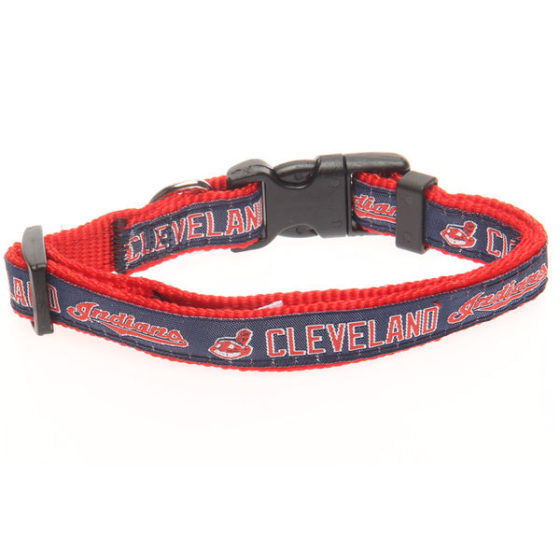 Cleveland Indians MLB Nylon Dog Collar