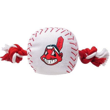 Cleveland Indians baseball plush ball and rope toy