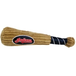 Cleveland Indians plush dog baseball bat