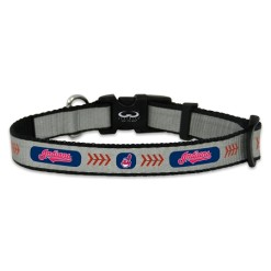 Cleveland Indians reflective dog collar