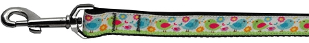 Colorful Chicks and Flowers Nylon Dog Leash