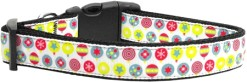 Colorful Christmas Ornaments Nylon Adjustable Dog Collar