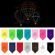 Colorful Hot Air Balloons rhinestone dog bandana