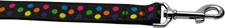 Colorful Polka Dot Nylon Adjustable Dog Leash