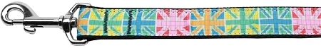 Colorful Union Jack Flag Dog Leash
