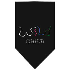 Colorful Wild Child dog rhinestone bandana