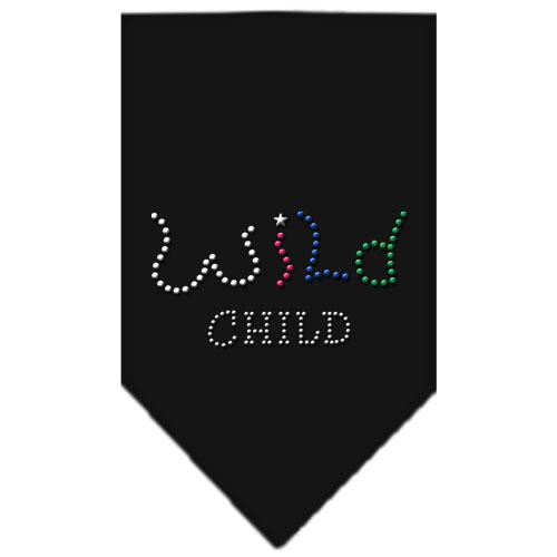 Colorful Wild Child dog rhinestone bandana