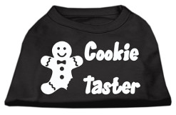 Cookie taster christmas sleeveless dog t-shirt black