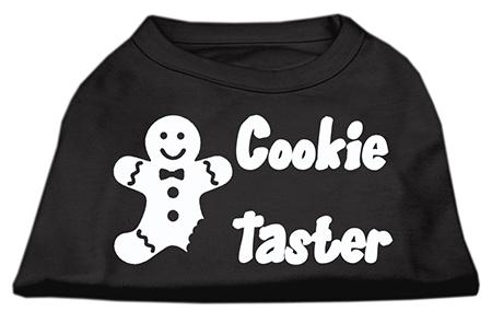 Cookie taster christmas sleeveless dog t-shirt black