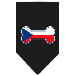 Czech Republic flag bone bandana black