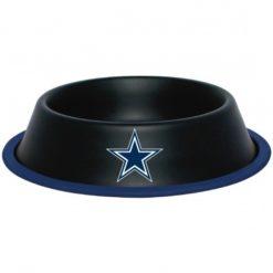 Dallas Cowboys NFL Stainless Black Dog Bowl