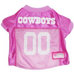 Dallas Cowboys NFL dog jersey pink