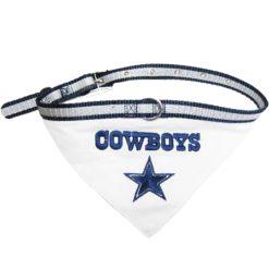 Dallas Cowboys dog bandana and collar