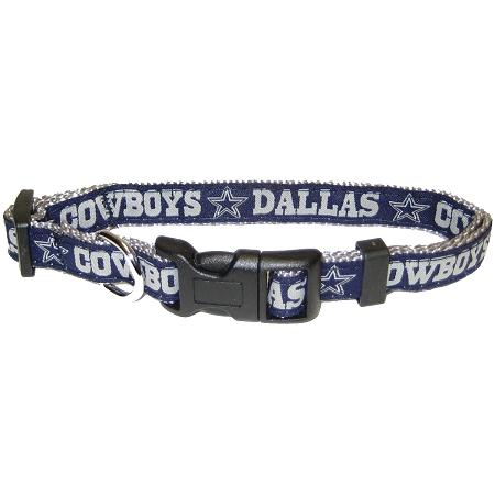 Dallas Cowboys nylon adjustable dog collar