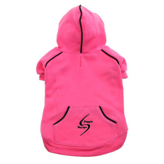 Dark Pink Sport Dog Hoodie
