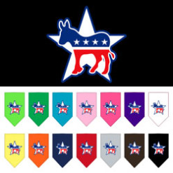 Democratic Party dog bandana