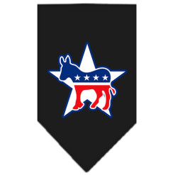 Democratic Party dog bandana black