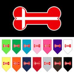 Denmark flag bone bandana
