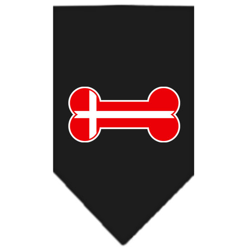 Denmark flag bone bandana black
