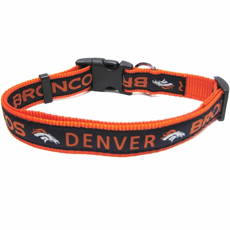 Denver Broncos NFL nylon dog collar