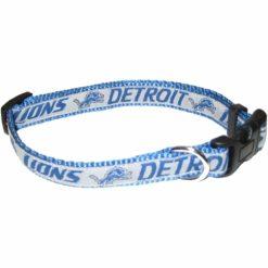 Detroit Lions NFL nylon adjustable dog collar