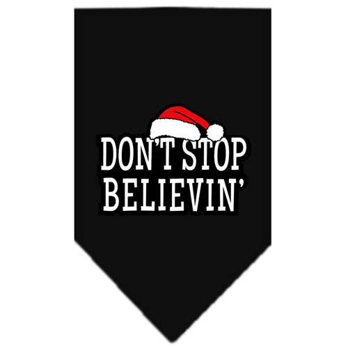 Don't Stop Believin' christmas dog bandana black