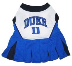 Duke University Blue Devils cheerleader dog dress