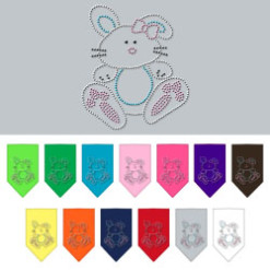 Easter bunny rhinestone dog bandana