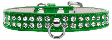 Emerald Green Dog Collar with Czech Crystals