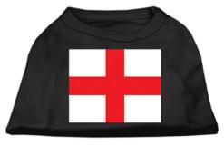 England country flag St George screen print sleeveless shirt black