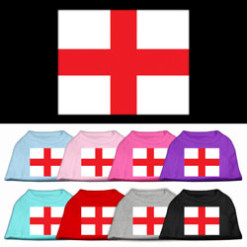 England country flag St George screen print sleeveless shirt colors