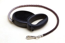 Fabuleash Black and Purple Beaded Retractable Leash 3