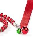 Fabuleash Christmas Luminescent Beaded Dog Leash with BellsFabuleash Christmas Luminescent Beaded Dog Leash with Bells