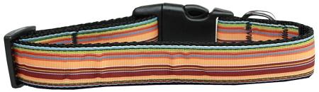 Fall Themed Stripes adjustable dog collar
