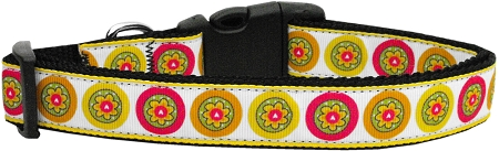 Fall Yellow Daisies Nylon Dog Collar