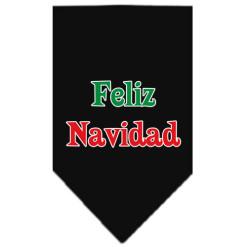 Feliz Navidad christmas dog bandana black