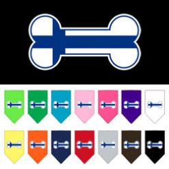 Finland dog bone flag bandana