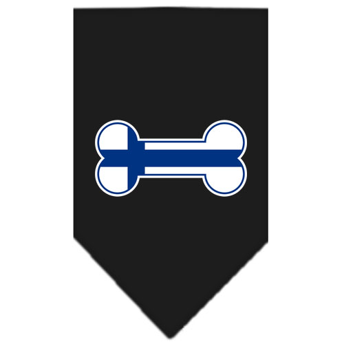 Finland dog bone flag bandana black