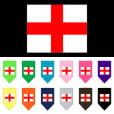 Flag of England dog bandana